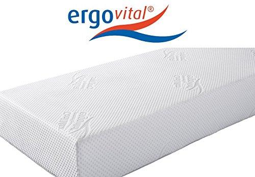 ergovital Vitalwell Premium Mousse Viscoélastique avec matelas de mousse à froid bretelles, H2, 90 x 220 cm