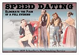 Paper poster printed on 20 x 30 stock. Speed Dating