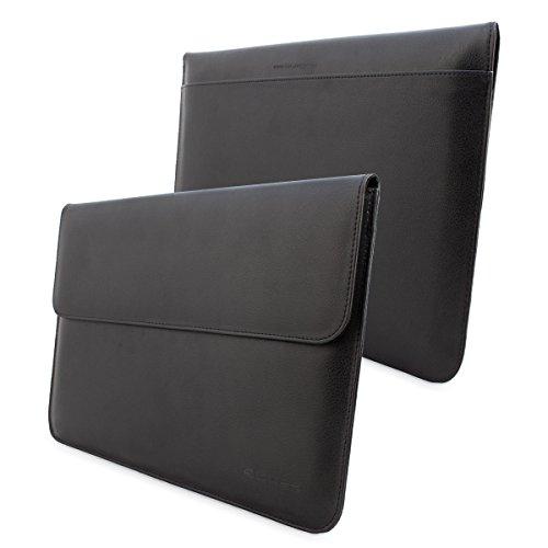 英国Snugg社製 MacBook 12インチ用 ケース - 合成レザー製・生涯補償付き (Apple MacBook 12, ブラック)