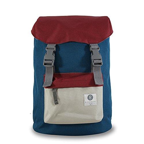 Ridgebake zaino caso HOOK BLUE MAROON LIGHT GREY blu rosso grigio Uomo Donna Bambini Laptop Backpack