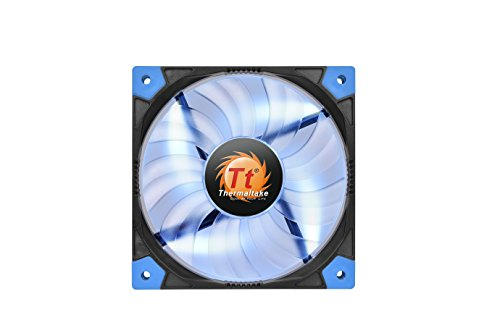 Thermaltake Luna 12 120mm Slim Series LED 15mm Width Quiet High Airflow Case Cooling Fan CL-F035-PL12BU-A Blue (120mm Case Fan Slim compare prices)