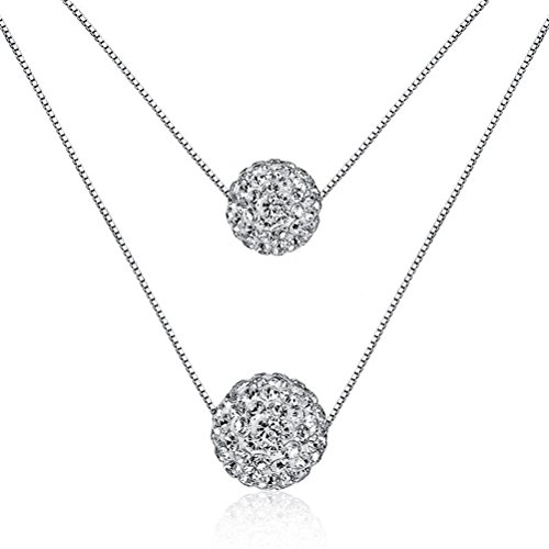 korea-jiaen-necklace-s925-sterling-silver-double-chain-necklace-with-8mm-and-10mm-fully-jewelled-sph