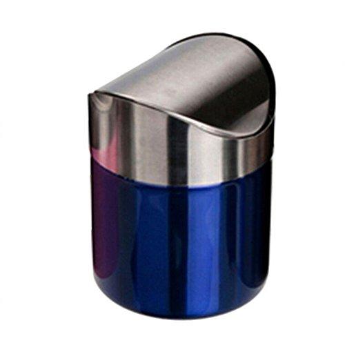 fantastic_008 Stainless Steel Desk Trash Bin,Countertop Trash Can 1.5L (Blue) (Countertop Desk compare prices)