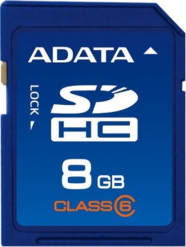 A-DATA 8 GB Class 6 SDHC Flash Memory Card 8GSDHC6AP
