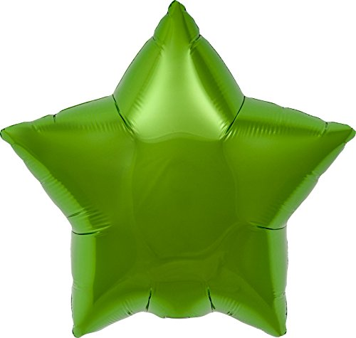 Lime Green Star Helium Foil Balloon - 22 inch