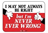 Laughter Revolution Sign Right/Wrong (Pack of 5)
