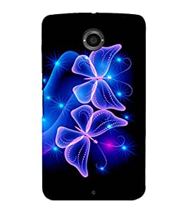 printtech Butterfly Starry Sparkling Back Case Cover for Motorola Google Nexus 6