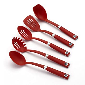 Rachael Ray Tools 5-Piece Soft-Grip Tool Set, Red