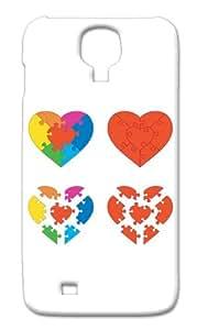 "Rebel Mobile Case Print Design - ""Multi design of Hearts"" For -Samsung S4"