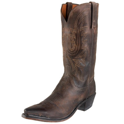 1883 by Lucchese Men's N3556 5/4 Western Boots,Stonewash Chocolate Burnish,10 EE(W)US