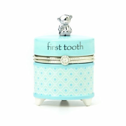 Nat and Jules First Tooth Keepsake Box, Blue