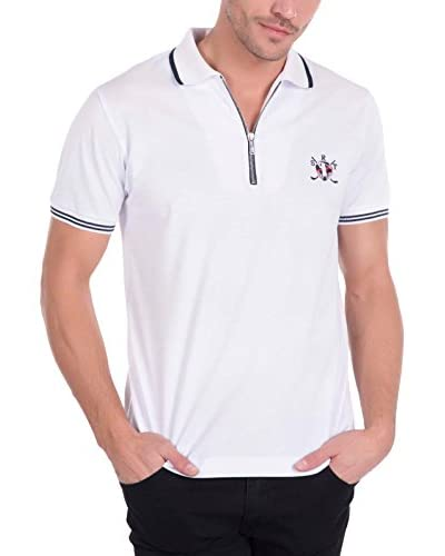 SIR RAYMOND TAILOR Men'S Polo Shirt Short Sleeve Model 310 BLANCO