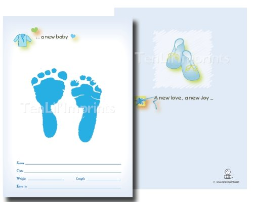TenLil'Imprints Birth Announcement Kit, Blue