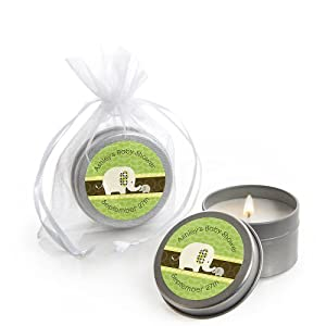 baby shower candle tin favors baby elephant toys