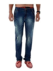 BENDIESEL MEN'S LIGHT BLUE WASHED JEANS