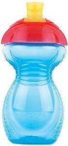 Munchkin 011506 Munchkin - Vaso con boquilla y pajita (cierre de clic, antigoteo), color azul - BebeHogar.com