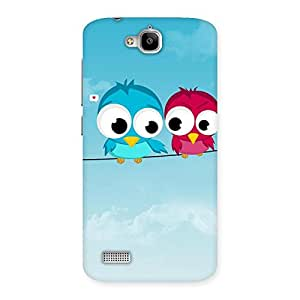 Delighted Birds on Wire Back Case Cover for Honor Holly