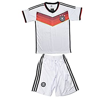 Buy CM-CG Men Germany Home Soccer Jersey World Cup 2014 & Shorts Set 2 Pc by CM-CG