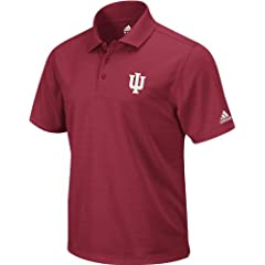 Indiana Hoosiers adidas ClimaLite Golf Polo Shirt - Victory Red by adidas