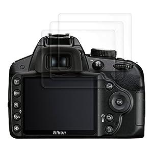 3x kwmobile® film de protection pour écran Nikon D3200 TRANSPARENT. Qualité supérieure