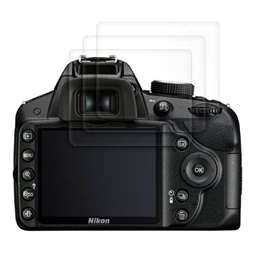 3x kwmobile® Displayschutzfolie für Nikon D3200 in KRISTALLKLAR - Premiumqualität