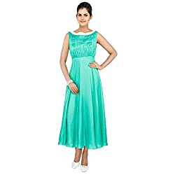 Madhus world Woman Olive Green Gown _GN00021