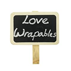 Wrapables Mini Chalkboard with Wooden Clip (set of 6)