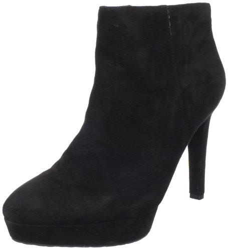 Rockport Women's Janae Suede Black Suede Booties Heels K58880 4 UK, 37 EU B