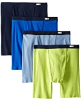Fruit of the Loom Men's Covered Waistband 4-Pack Boxer Briefs