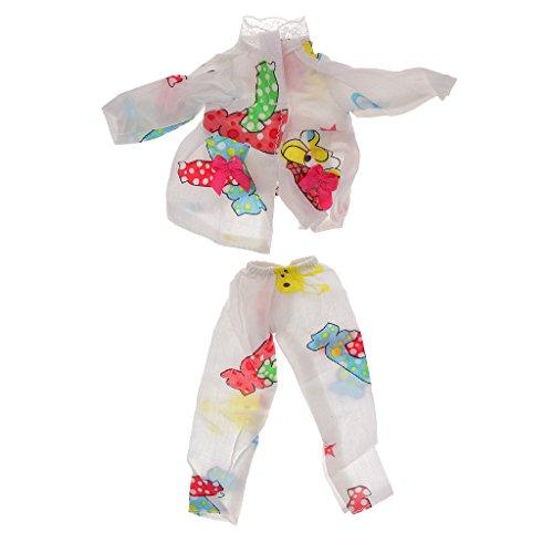 Pijamas-de-Helado-Fijados-para-Muecas-Barbie-Ropa