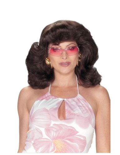 Angels 70S Dark Brown Wig Halloween Costume - 1 size