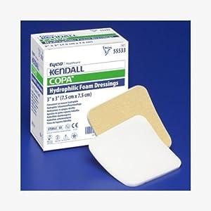 "Kendall Copa Hydrophilic Foam Dressing - 3.5x3"" Fenestrated Box of 10 - KND55535_BX"