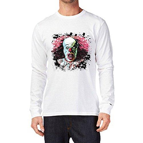 t-shirt manica lunga Tribute Tribute film Horror, Clown, Pagliaccio S M L XL XXL uomo donna bambino maglietta by tshirteria