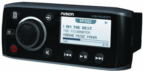 Fusion MS-RA205 Marine AM/FM/AUX/USB/Weather Band and VHF Receiver/iPod/iPhone/SiriusXM Ready Marine Stereo