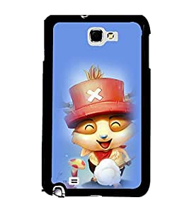 Printvisa 2D Printed Cartoon Designer back case cover for Samsung Galaxy Note 2 N7100 - D4564