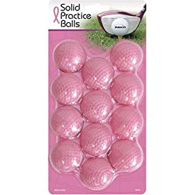 Intech solid Practice Balls, 12 Pack (Pink)