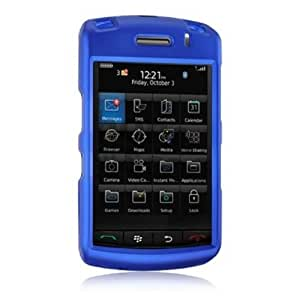 Amzer Rubberized Snap-On Crystal Hard Case for BlackBerry Storm 9530/9500 - Blue