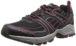 AVIA Women\'s Avi-Dell Running Shoe ,Black/Iron Grey/Zuma Pink,9 D US