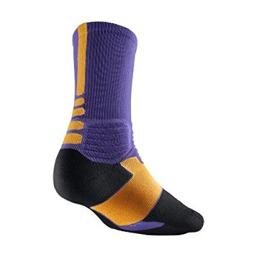 Nike Men's Hyper Elite Cushioned Basketball Socks, Volt Black Grey очки nike optics rabid p matte crystal mercury grey volt green polarized lens