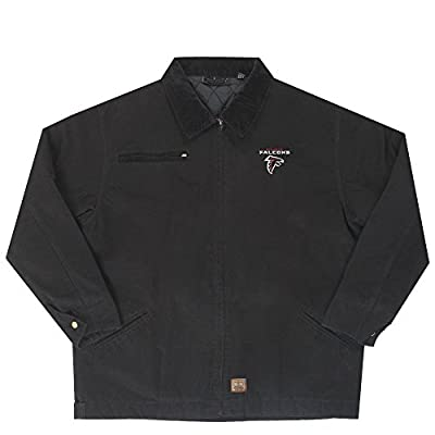NFL Atlanta Falcons Tradesman Canvas Quilt Lined Jacket, Black, Large