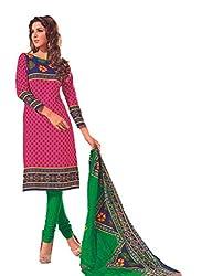Design Willa Cotton Dress Material Saree (DW0283)