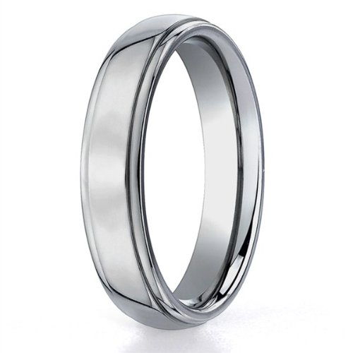 Mens 5mm Plain Polished Wedding Band