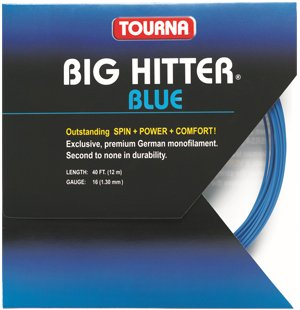Unique Tourna Tennis Racquet String Big Hitter 16 Gauge, 40 FT-12 M-Blue