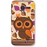 Motorola Moto X Back Cover With Brown OWL Print HOLA Online