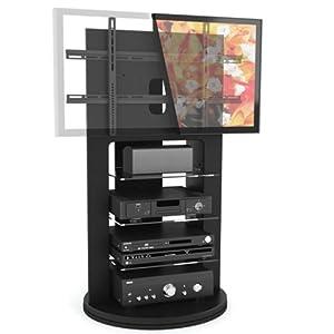 Sonax ZX-8680 Zurich Midnight Black TV Mount with Swivel Base for 37-Inch- 52-Inch TVs