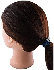 Anuradha Art Navy Blue Colour Designer Hair Acessories Hair Band Stylish Rubber Band For Women/Girls