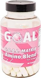 GOAL G.O.A.L. MATRIX Amino Acids Complex Pills for Women 90 Caplets High Potency L-Glycine L-Ornithine L-Arginine L-Lysine Combination Anti-Aging Blend Best NO Supplement Tablets Nitric Oxide Booster