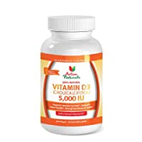 Vitamin D 5000 IU Supplement for 180 days Supply - Activa Naturals Sunshine Vitamin D3 (Cholecalciferol) to Support Healthy Bones, Healthy Immune System & Healthy Body Weight
