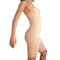Lipo in a Box &quot;Original Firm Control&quot; Control Bodysuit w/Legs w/Underwire, Nude, Black or Chocolate XS thru 2X