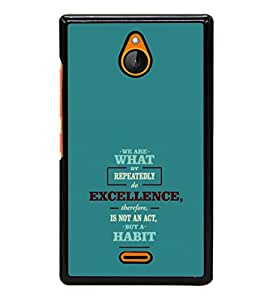 printtech Cool Quotes Success Back Case Cover for Nokia XL